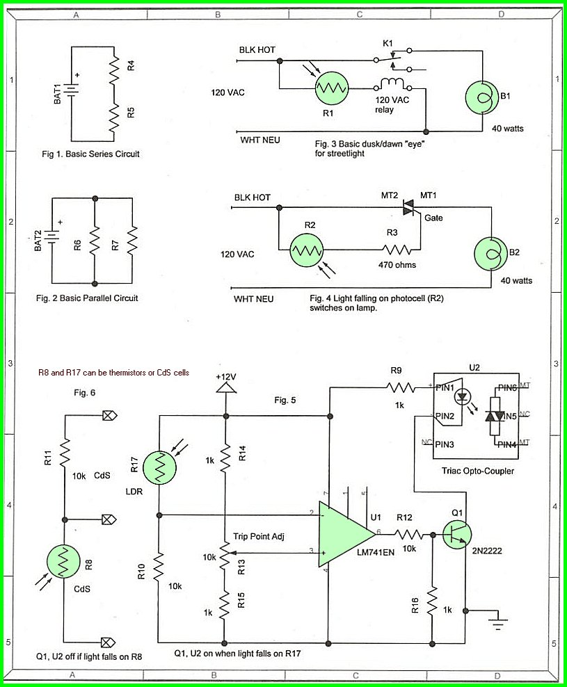 Using Cds Photoresistor Photocell Tutorial 470 Ohm Resistor Wiring Diagram If We Use R6 And R8 The Relay When Activate As It Gets Dark For More On Comparators See Vchtm Same Circuit Above A Ua741 Op Amp