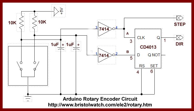 Diagram wiring rotary encoder Rotary encoder