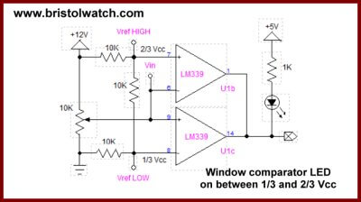 Window Comparator using LM358