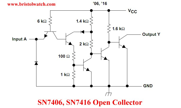 SN7406 open collector diagram.