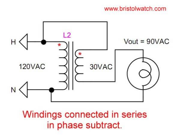 voltage buckboost transformer connections tutorial